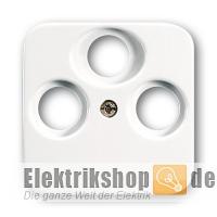 busch jaeger 1743 03 214 3 loch antennedosen zentralscheibe. Black Bedroom Furniture Sets. Home Design Ideas