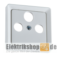 Zentralplatte Antennensteckdose 3-Loch FASHION rw 206034 ELSO