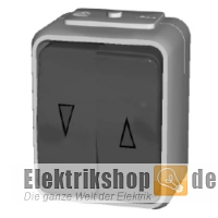 Jalousieschalter/Taster IP44 AQUA-Top grau 442809 ELSO