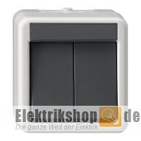 gira 010530 serienschalter aufputz feuchtraum ip44 grau. Black Bedroom Furniture Sets. Home Design Ideas