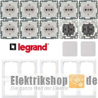 Spar-Set Creo ultraweiß Legrand