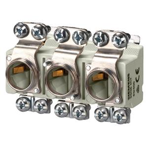 Sicherungssockel 3 polig D02 63A E18 für Neozed 3-phasig Hutschiene