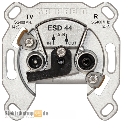 Kabel/Sat Durchschleifdose 2-Loch ESD 44 Kathrein