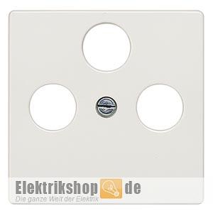 Abdeckplatte TV/RF/SAT 3 Loch 5TG25482 titanweiß SIEMENS