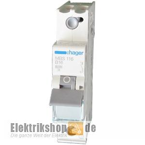 1C16 LS-Schalter C 16A 1polig QuickConnect 6kA MCS116 Hager
