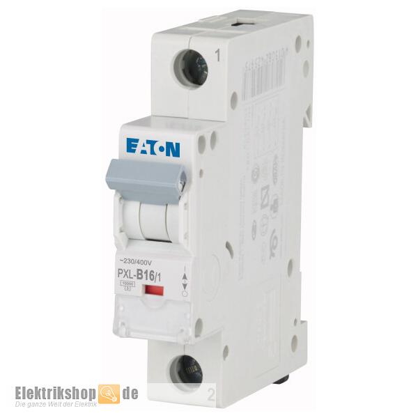 Eaton PXL-B16//1 B16 16A 1-polig LS-Schalter Leitungsschutzschalter