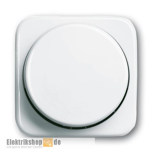 Busch Jaeger Dimmer-Zentralscheibe Drehknopf 2115-214 alpinweiß