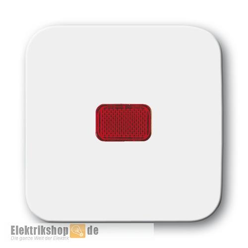 Busch Jaeger Wippe Kontroll Kalotte rot 2509-214 alpinweiß