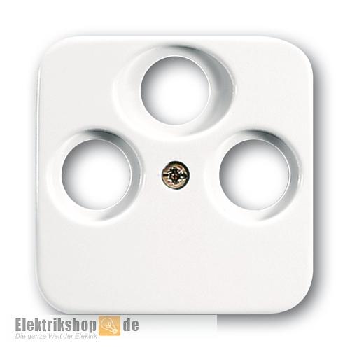 Busch Jaeger Zentralscheibe Antennensteckdose 3-Loch 1743-03-214