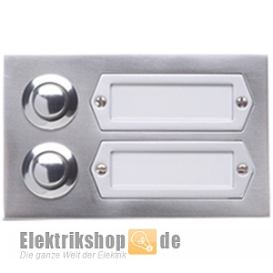 klingeltaster 2 fach etagenplatte ap alu 55532 eta 502 ga grothe. Black Bedroom Furniture Sets. Home Design Ideas