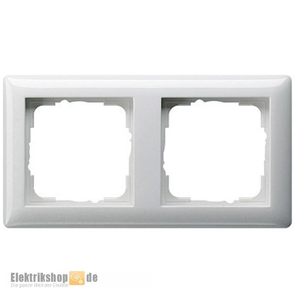 Abdeckrahmen 2-fach Rahmen reinweiß glänzend 021203 Gira