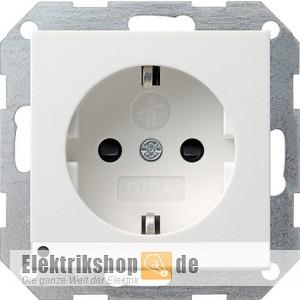 Kinderschutz-Steckdose LED-Orientierungslicht rw gl 117003 Gira