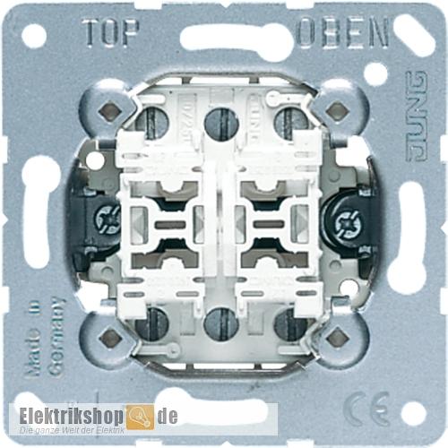 jung 509u doppel wechsel wippschalter einsatz elektrikshop. Black Bedroom Furniture Sets. Home Design Ideas
