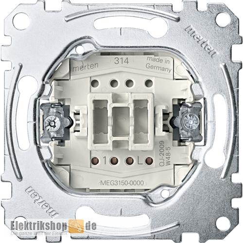 Taster-Einsatz Schließer 1-polig MEG3150-0000 Merten