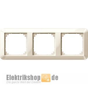 Rahmen 3-fach System 1-M weiß/cremeweiß glänzend 389344 Merten