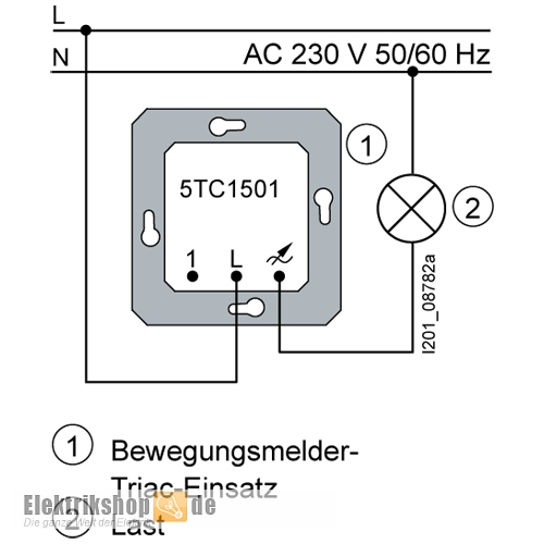 siemens 5tc1 501 bewegungsmelder triac einsatz. Black Bedroom Furniture Sets. Home Design Ideas