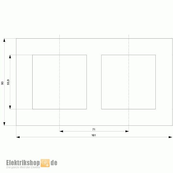 Siemens 5TG1 112-3 Delta miro 2-fach Rahmen elektroweiß 5TG11123