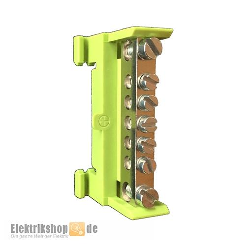 PE-Klemme grün-gelb HKL 7p für Hutschiene 651S/7 Kleinhuis