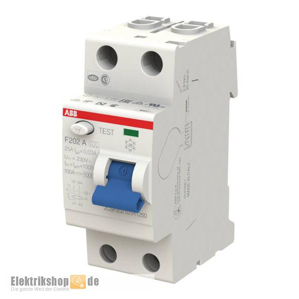 FI-Schutzschalter 25/0,03A 2pol. F202A-25/0,03 Pro M Compact ABB