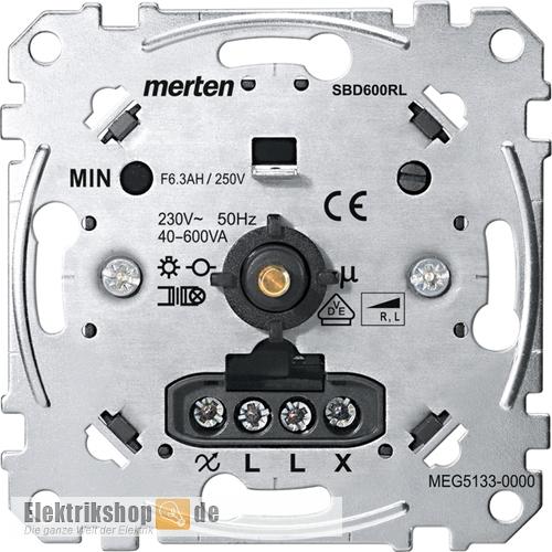 Drehdimmer Druck-Wechsel R/L 40-600 W MEG5133-0000 Merten