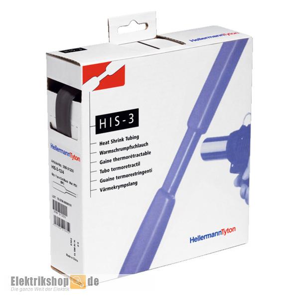 Schrumpfschlauch 3-1 mm Box 10 m HIS-3-3/1-PEX-BK Hellermann