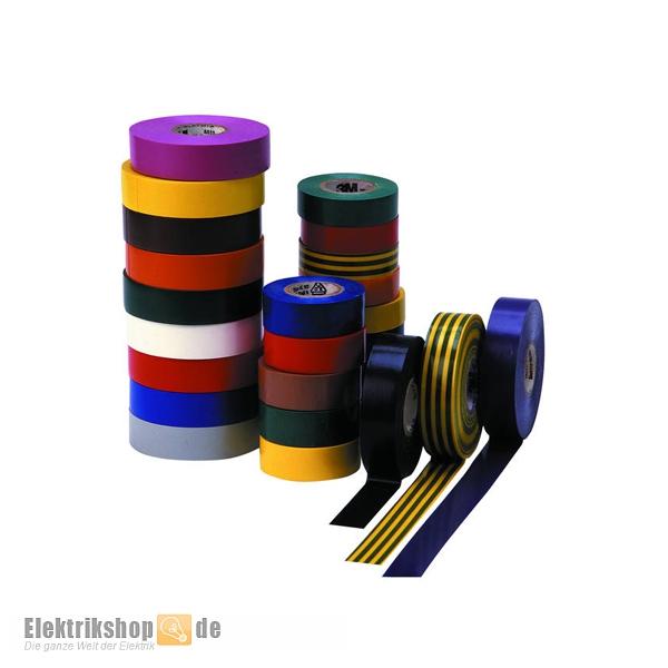 25m Rolle Elektro Isolierband 19mm div. Farben Temflex Scotch3M