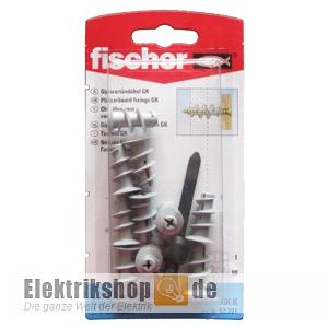 10 Stk. Gipskartondübel im Blister + Werkzeug GK K Fischer