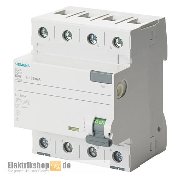 Siemens 5SM1344-6KK01 Fi Schalter 40A 30mA 55t