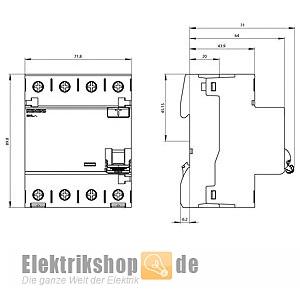 siemens 5sv3646 6 brandschutz fi schutzschalter 63a 300ma 4 pol. Black Bedroom Furniture Sets. Home Design Ideas