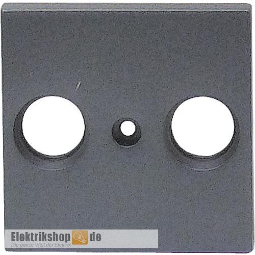Zentralscheibe Antennendose 2-Loch Karre anthrazit EGB VIKO