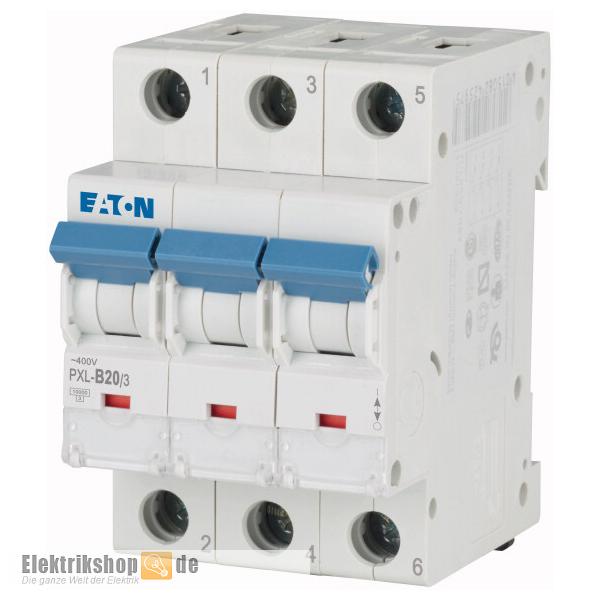 3B20 Leitungsschutzschalter B-20A 3polig PXL-B20/3 Moeller Eaton