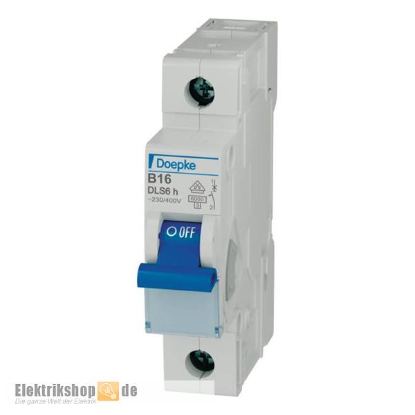 1B16 Leitungsschutzschalter B 16A 1-polig DLS 6H B16-1 Doepke