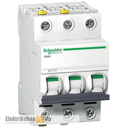 3B16 LS-Schalter B 16A 3-polig iC60N A9F03316 Schneider Electric