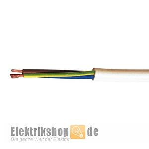H05VV-F 3G1 PVC-Schlauchleitung weiß