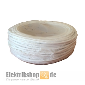 50m Ring H05VV-F 3G1,5 PVC-Schlauchleitung weiß