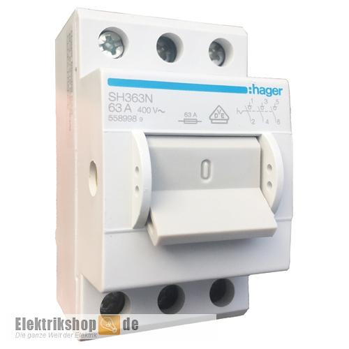 Ausschalter/Hauptschalter 63A 3-polig 3S SH363N Hager