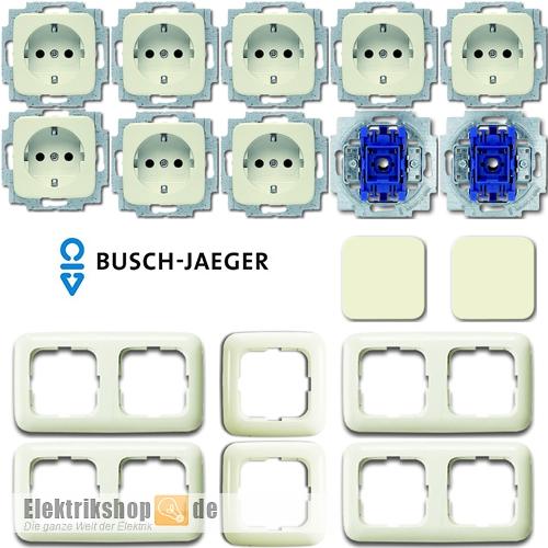 Beliebt Schalter-Steckdosen Set Busch Jaeger Duro 2000 SI - Elektrikshop VJ88