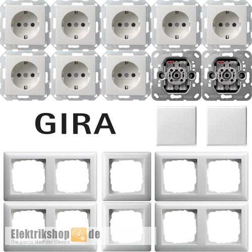 gira system 55 reinwei spar set. Black Bedroom Furniture Sets. Home Design Ideas