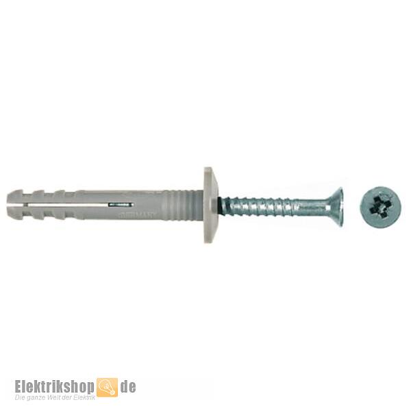 100 Stk. Nageldübel / Schlagdübel 048795 N6x40/7PGP Fischer