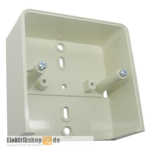Geräteträger für Aufputz-Steckdose 1-fach reinweiß 504114 ELSO