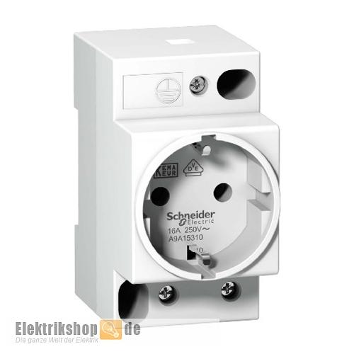 Schneider A9A15310 SCHUKO-Steckdose für Verteilereinbau