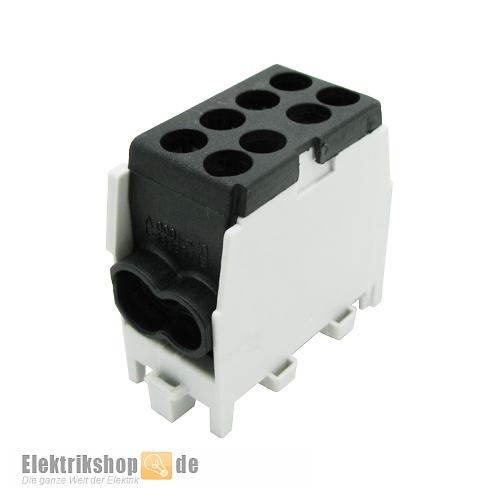 Hauptleitungs-Abzweigklemme schwarz HLAK25-1/2M2 2080140 Pollman