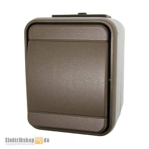 aufputz taster braun ip44 aqua top sepiabraun elg442102 elso. Black Bedroom Furniture Sets. Home Design Ideas