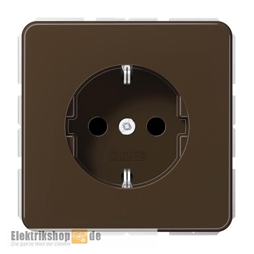 jung cd 1520 br schuko steckdose unterputz braun. Black Bedroom Furniture Sets. Home Design Ideas