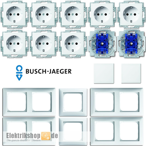 busch balance si schalter steckdosen set. Black Bedroom Furniture Sets. Home Design Ideas
