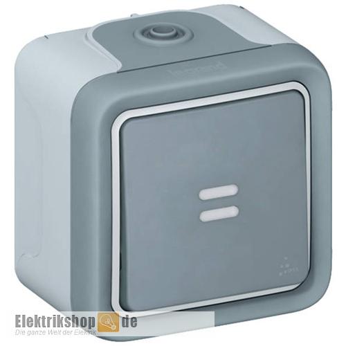 legrand 069712 kontroll schalter aufputz feuchtraum plexo 55. Black Bedroom Furniture Sets. Home Design Ideas
