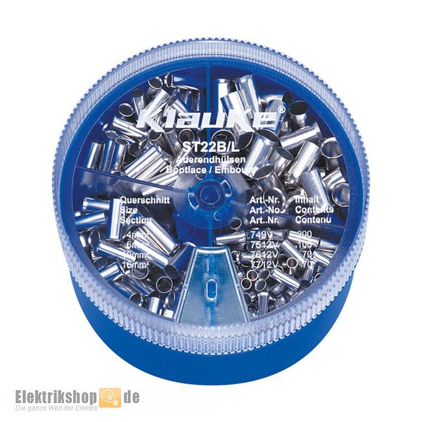 Streudose ST 22 B Aderendhülsen 4-16 blank Klauke