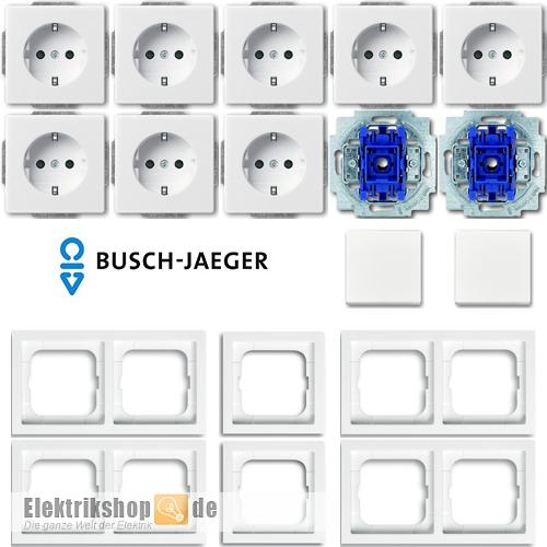 busch future linear schalter steckdosen set elektrikshop. Black Bedroom Furniture Sets. Home Design Ideas