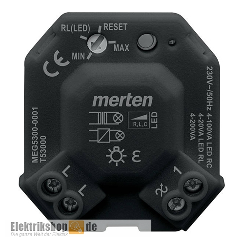 merten led dimmer modul meg5300 0001. Black Bedroom Furniture Sets. Home Design Ideas