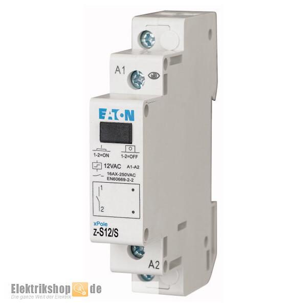 Eaton Stromstoßschalter 12V Z-S12/S - Elektrikshop.de
